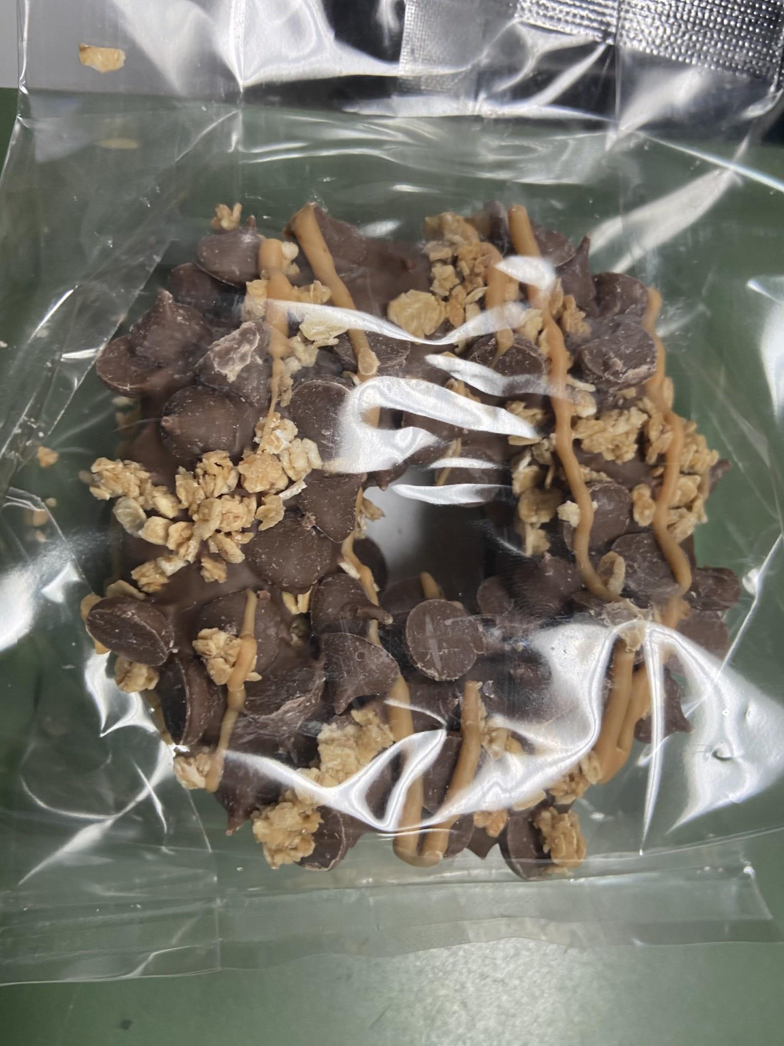 Carob Peanut Butter Crunch Gourmet Donut