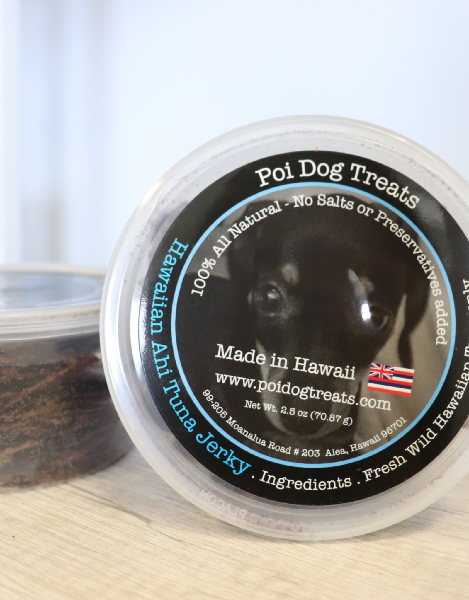 Poi Dog Ahi Jerky Tub