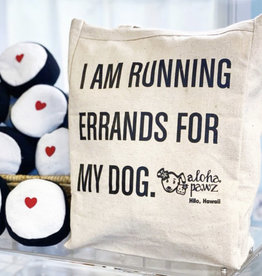 Aloha Pawz Aloha Pawz Errands Dog Canvas Tote Bag