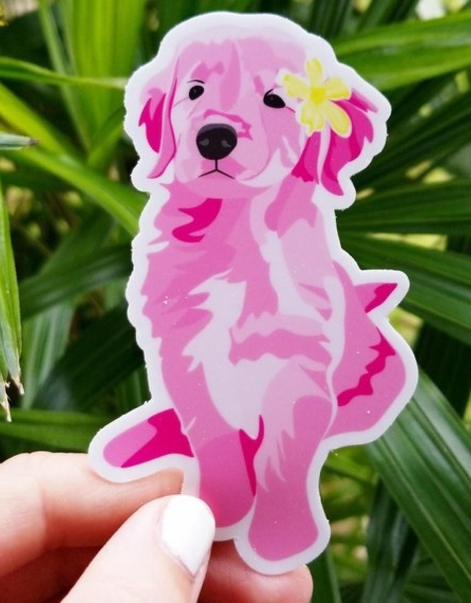 Bee Beachey Designs Pink Golden Sticker