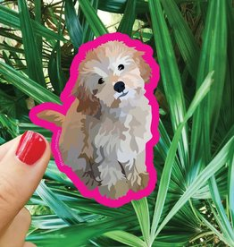 Bee Beachey Designs Poodle Sticker