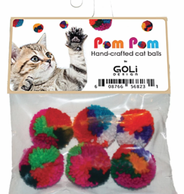 Goli Pom Pom Cat Ball 6pk
