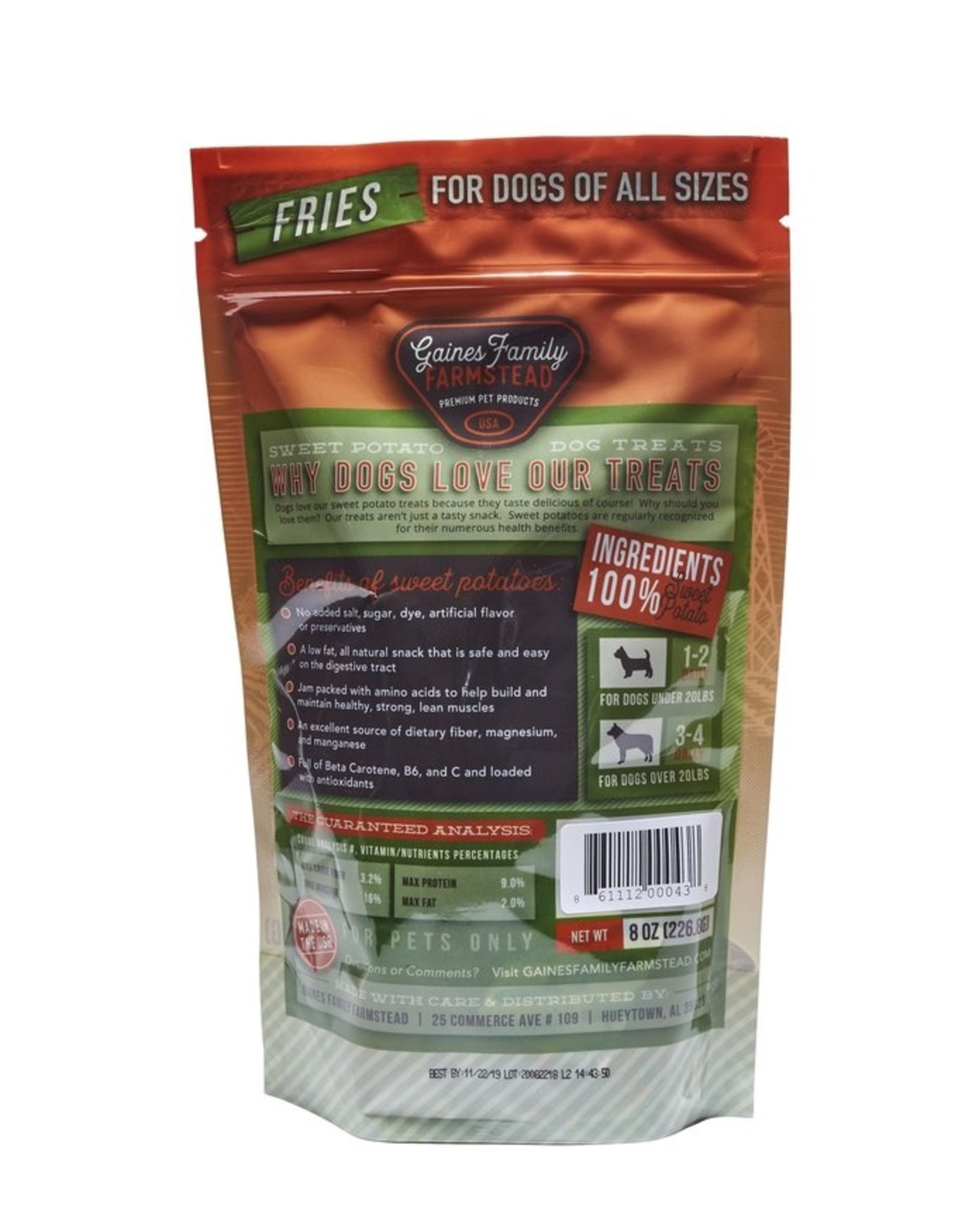 Gaines Family Farmstead Gaines Family Farmstead Sweet Potato Fries