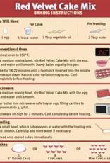 Cake Mix Red Velvet w/ Frosting