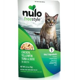 Nulo Pouch Cat Chicken, Tuna, Duck Broth 2.8oz