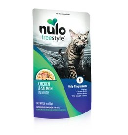 Nulo Pouch Cat Chicken, Salmon Broth 2.8oz