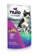 Nulo Pouch Cat Sardine, Beef Broth 2.8oz