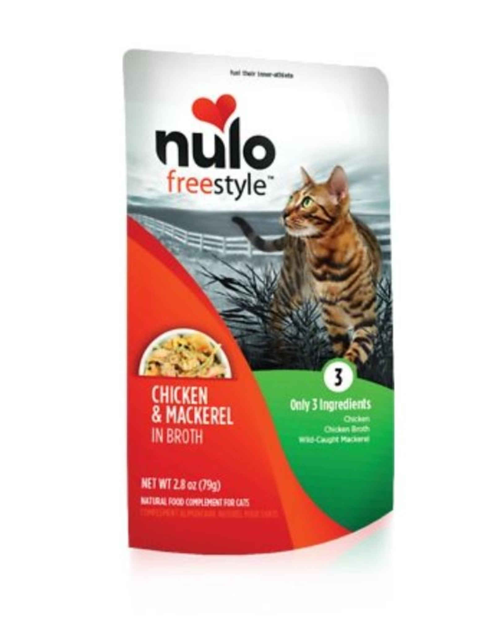 Nulo Pouch Cat Chicken, Mackerel Broth 2.8oz