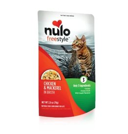 Nulo Pouch Cat Chicken, Mackerel Broth 2.8oz