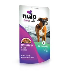 Nulo Pouch Dog Beef, Liver, Kale Broth 2.8oz