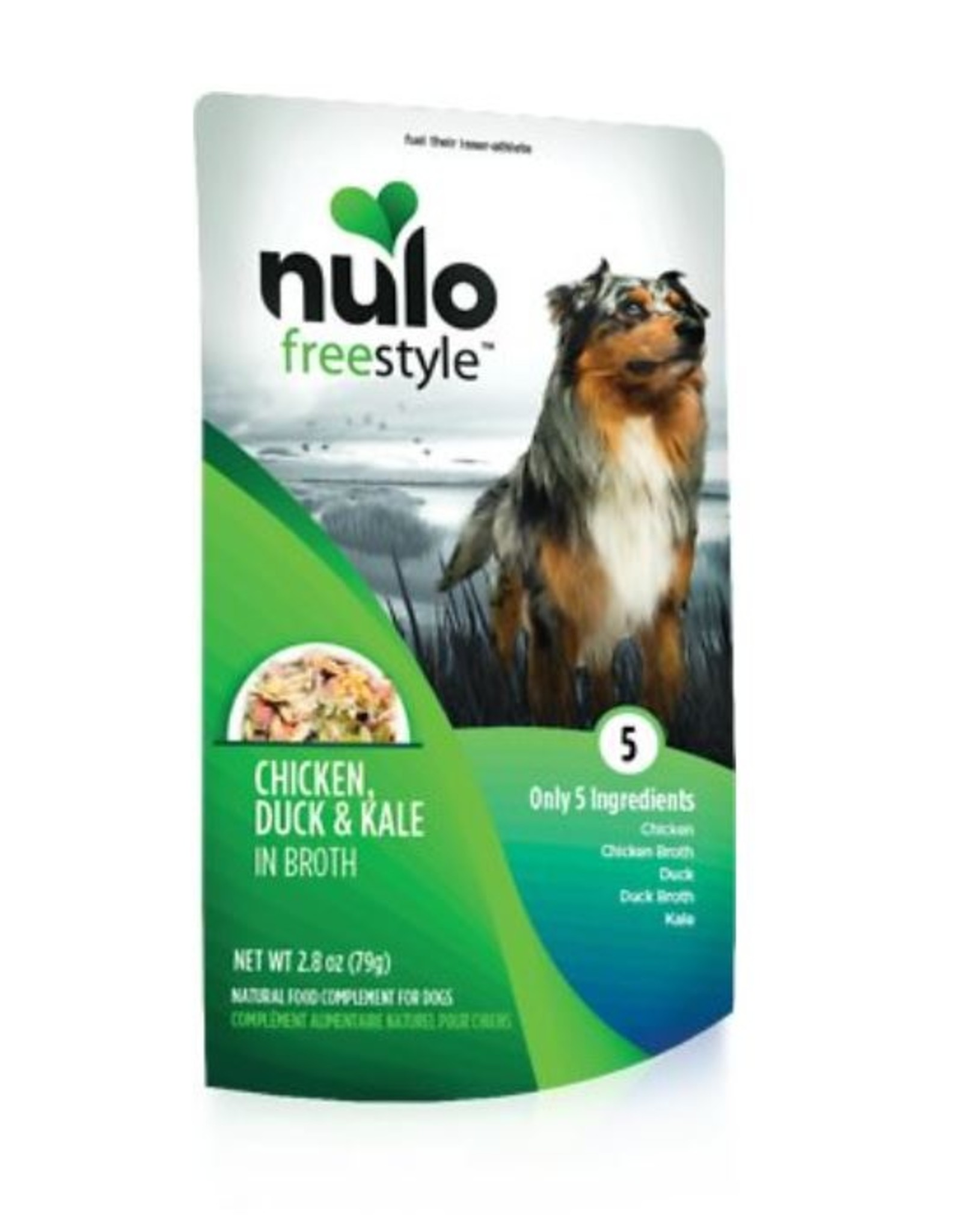 Nulo Pouch Dog Chicken, Duck, Kale Broth 2.8oz