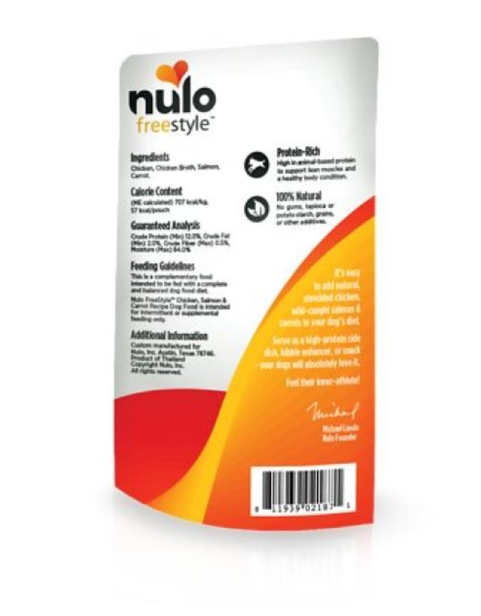 Nulo Pouch Dog Chicken, Green Beans Broth 2.8oz
