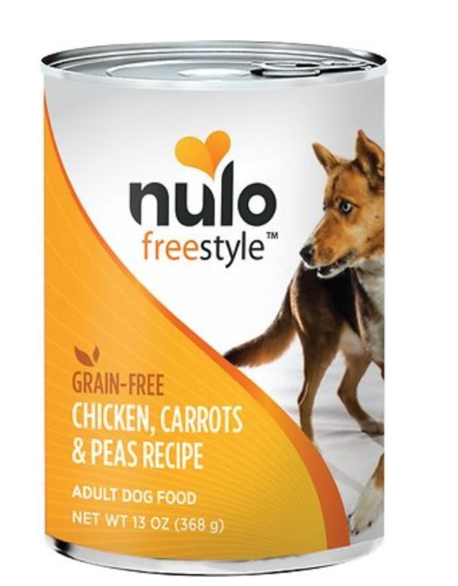 Nulo Can Dog Chicken, Carrots, Peas 13oz