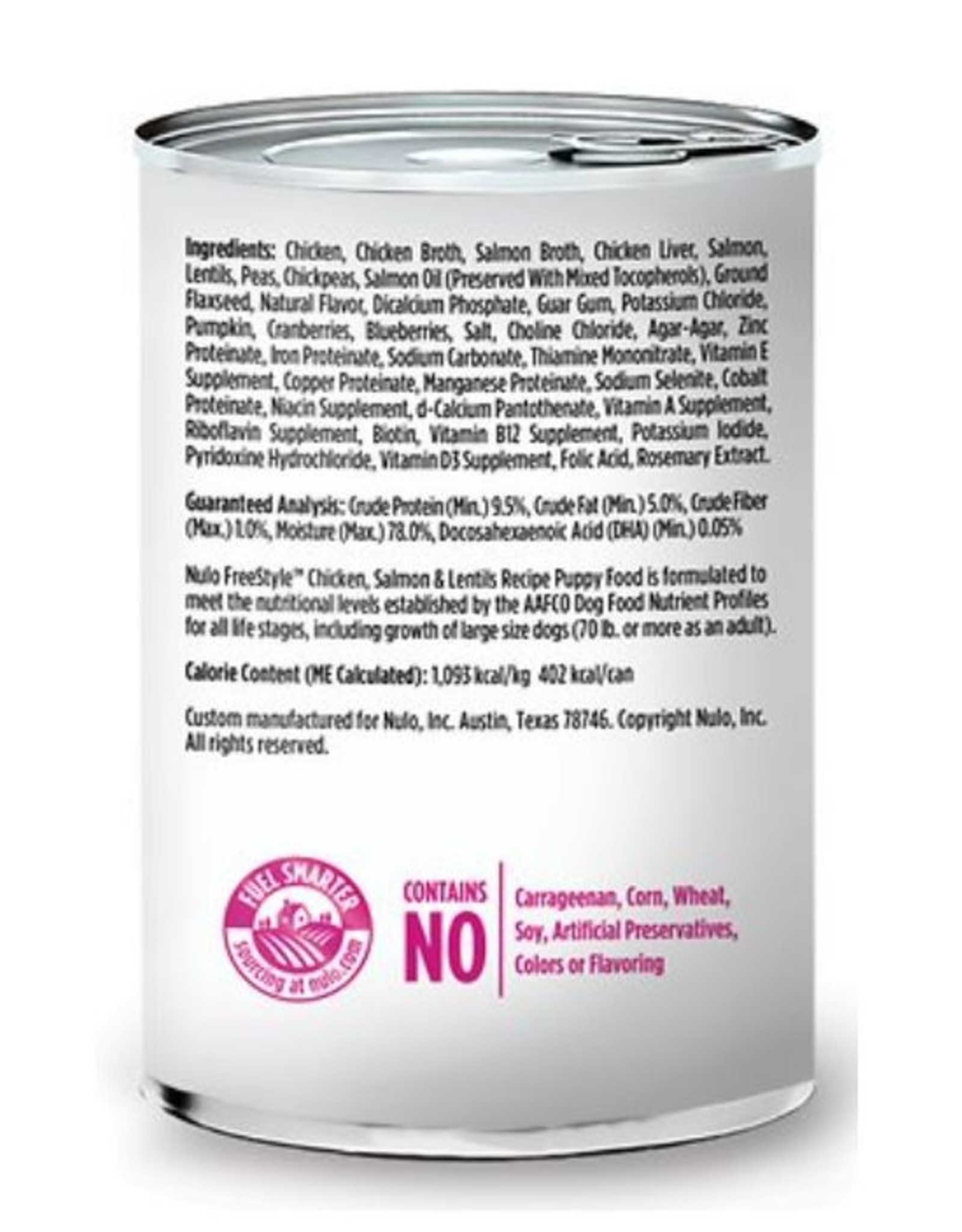 Nulo Can Puppy Chicken, Salmon, Lentil 13oz