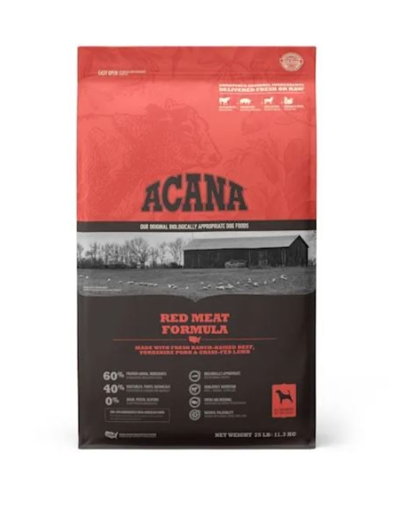 Acana Heritage Red Meats 25lbs
