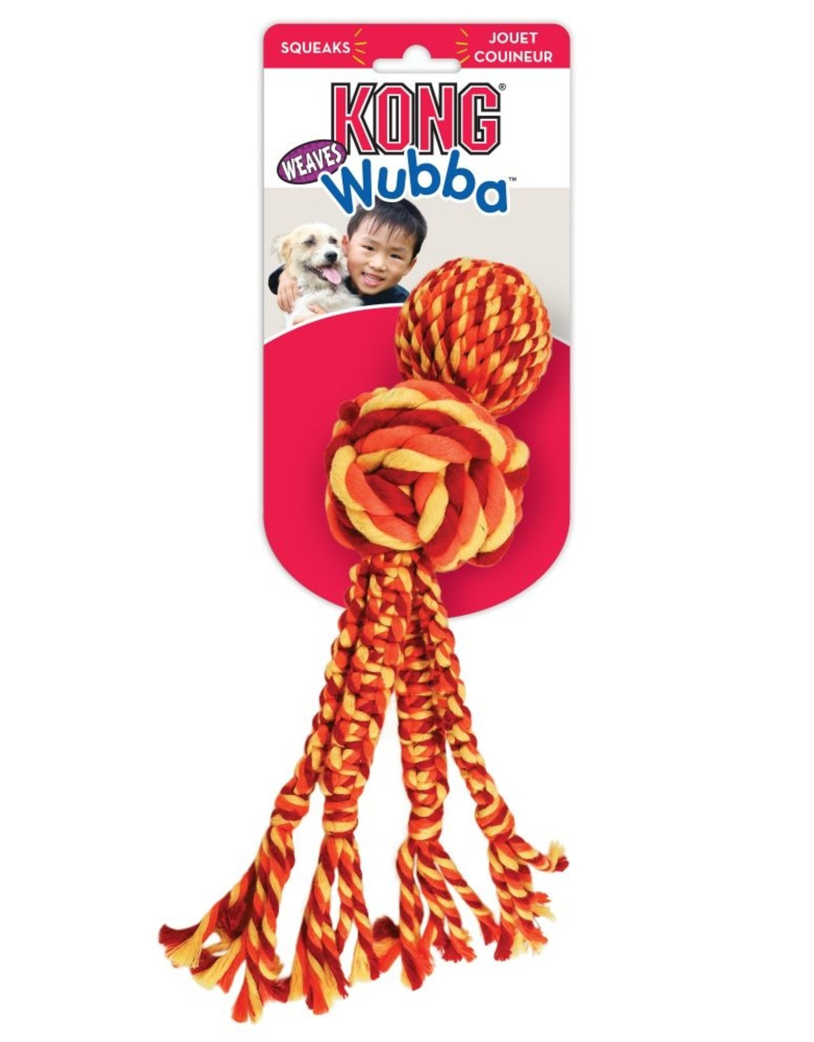 Kong Wubba Weaves w/ Rope XL