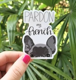 Bee Beachey Designs Pardon My French Black Sticker