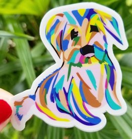 Bee Beachey Designs Rainbow Puppy Sticker