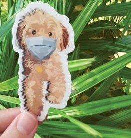Bee Beachey Designs Morkie Poo Mask Puppy Sticker