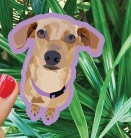 Bee Beachey Designs Brown Dog Sticker