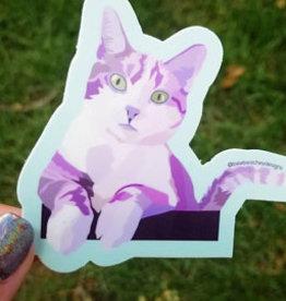 Bee Beachey Designs Cat Sticker