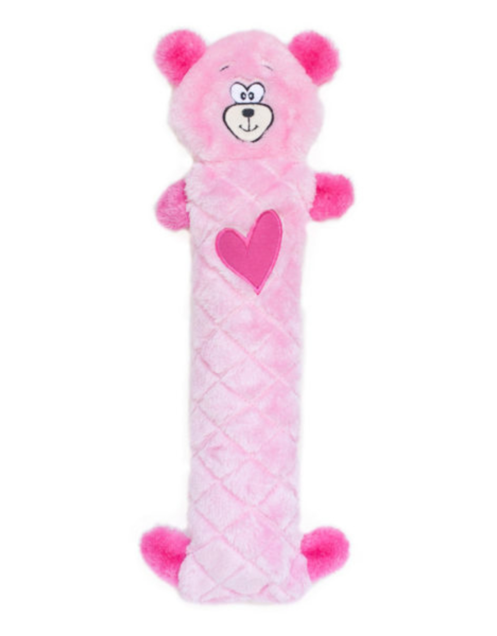 ZippyPaws Jigglerz Pink Bear