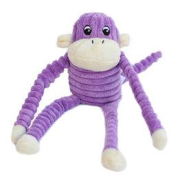 ZippyPaws Spencer the Crinkle Monkey - Purple