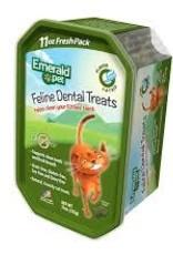 Emerald Pet Cat Dental Treat Tub Catnip 11oz
