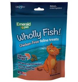 Emerald Pet Wholly Fish! Salmon Cat Treat 3 oz