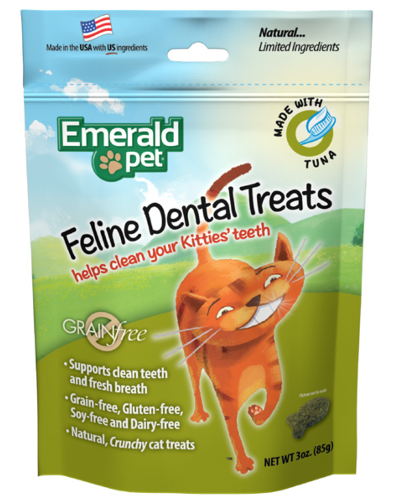 Emerald Pet Cat Dental Treat Tuna 3oz