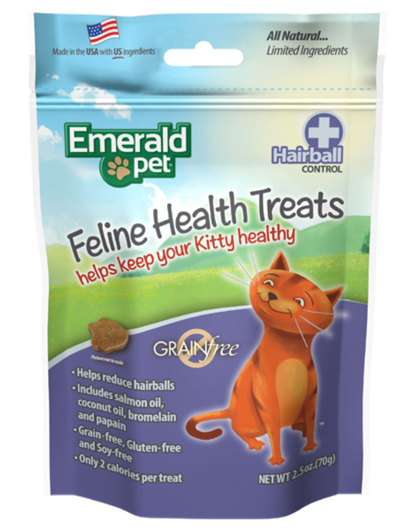 Emerald Pet Hairball Formula Chicken Flavor Cat Chews 2.5 oz