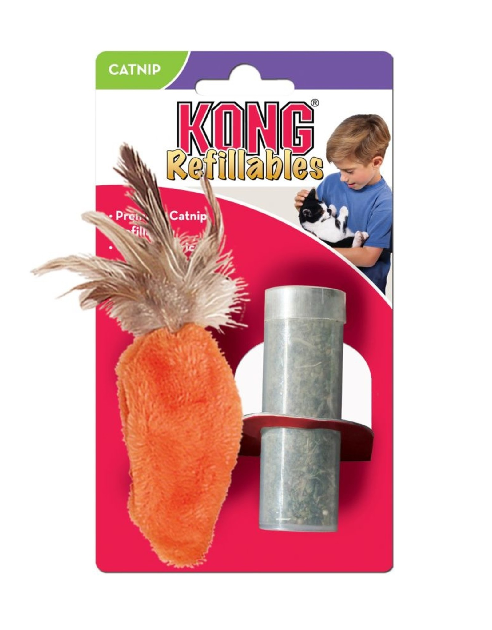 Kong Refillables Carrot Cat Toy
