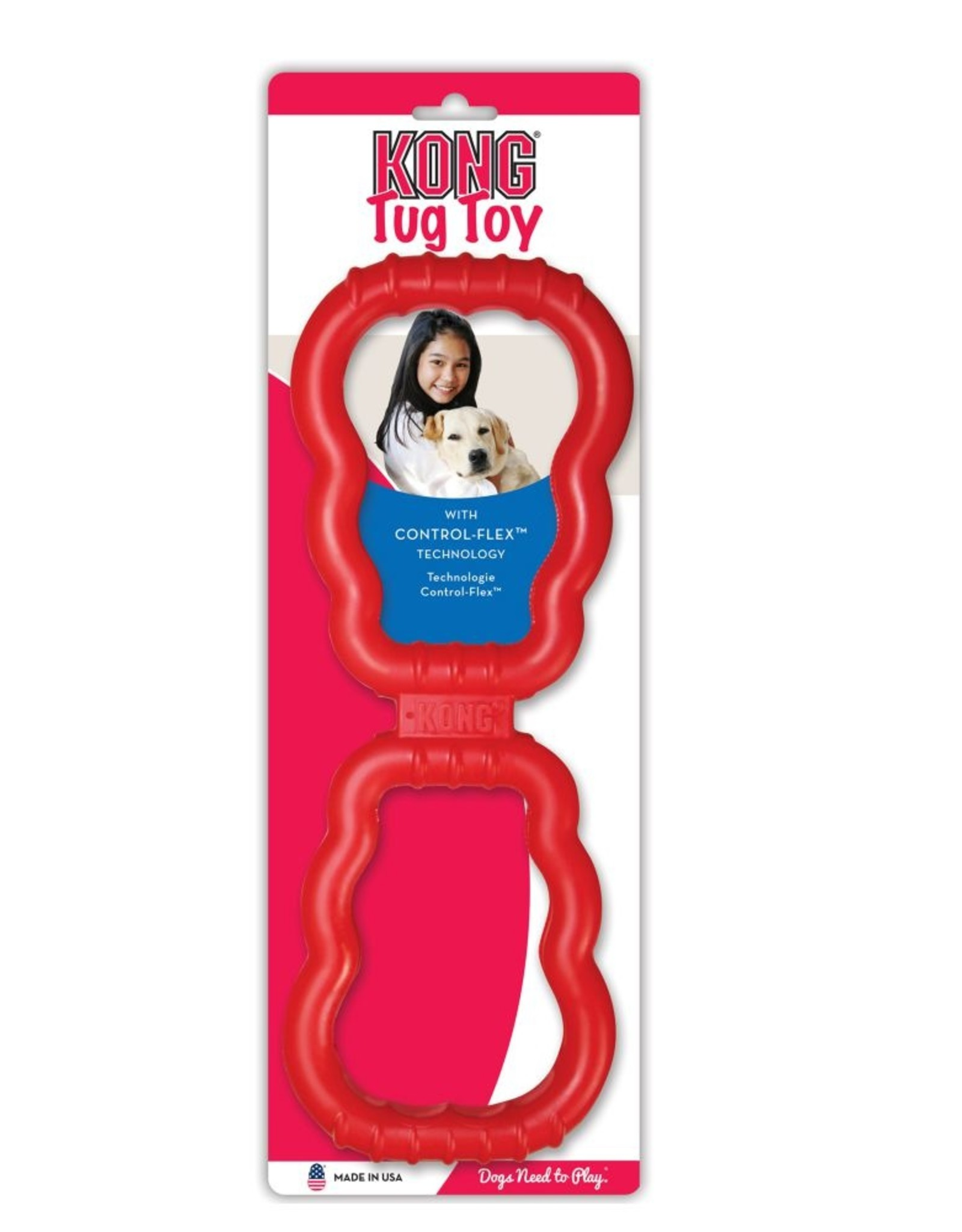 KONG® Tug Dog Toy Red Medium