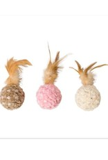 Ethical Chenille Chaser Feather Ball Cat