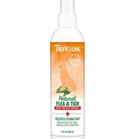TropiClean Natural Flea & Tick Bite Relief Spray 8 fl oz