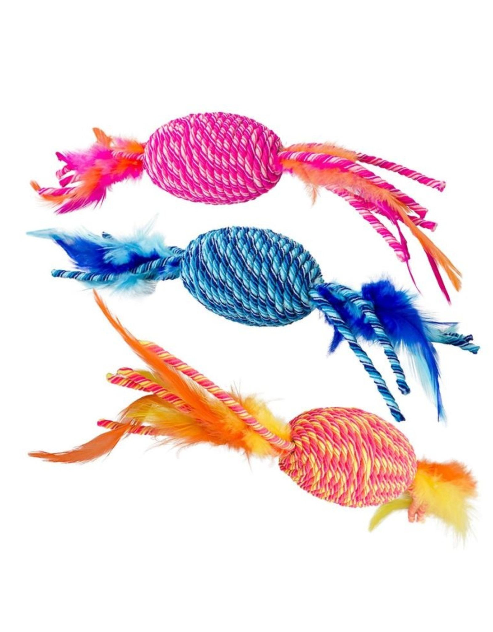 Ethical Spot Elasteeez Roller & Feathers Cat Toy Assorted