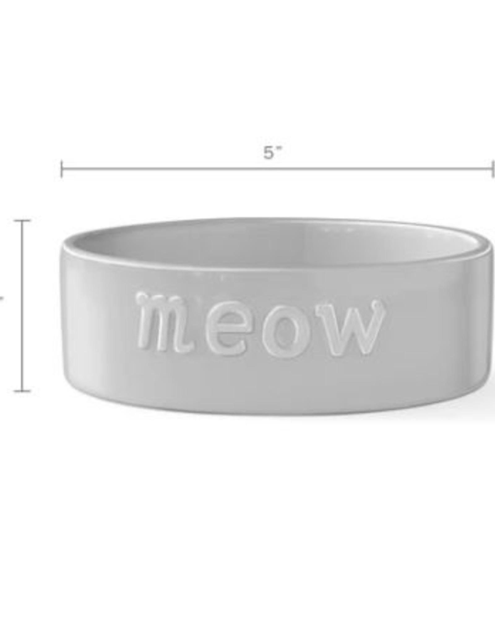 Pet Shop by Fringe Studio Meow Sculpt Bowl GRAY