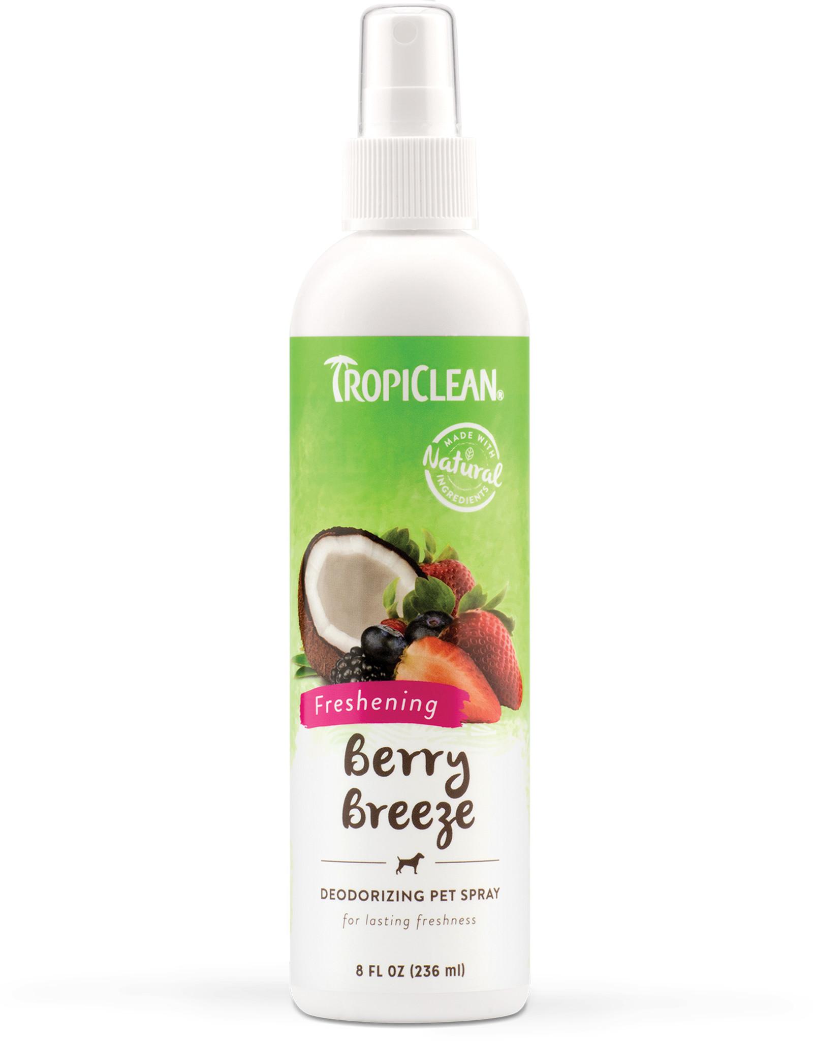 TropiClean Berry Breeze Deodorizing Spray for Dogs 8 fl oz