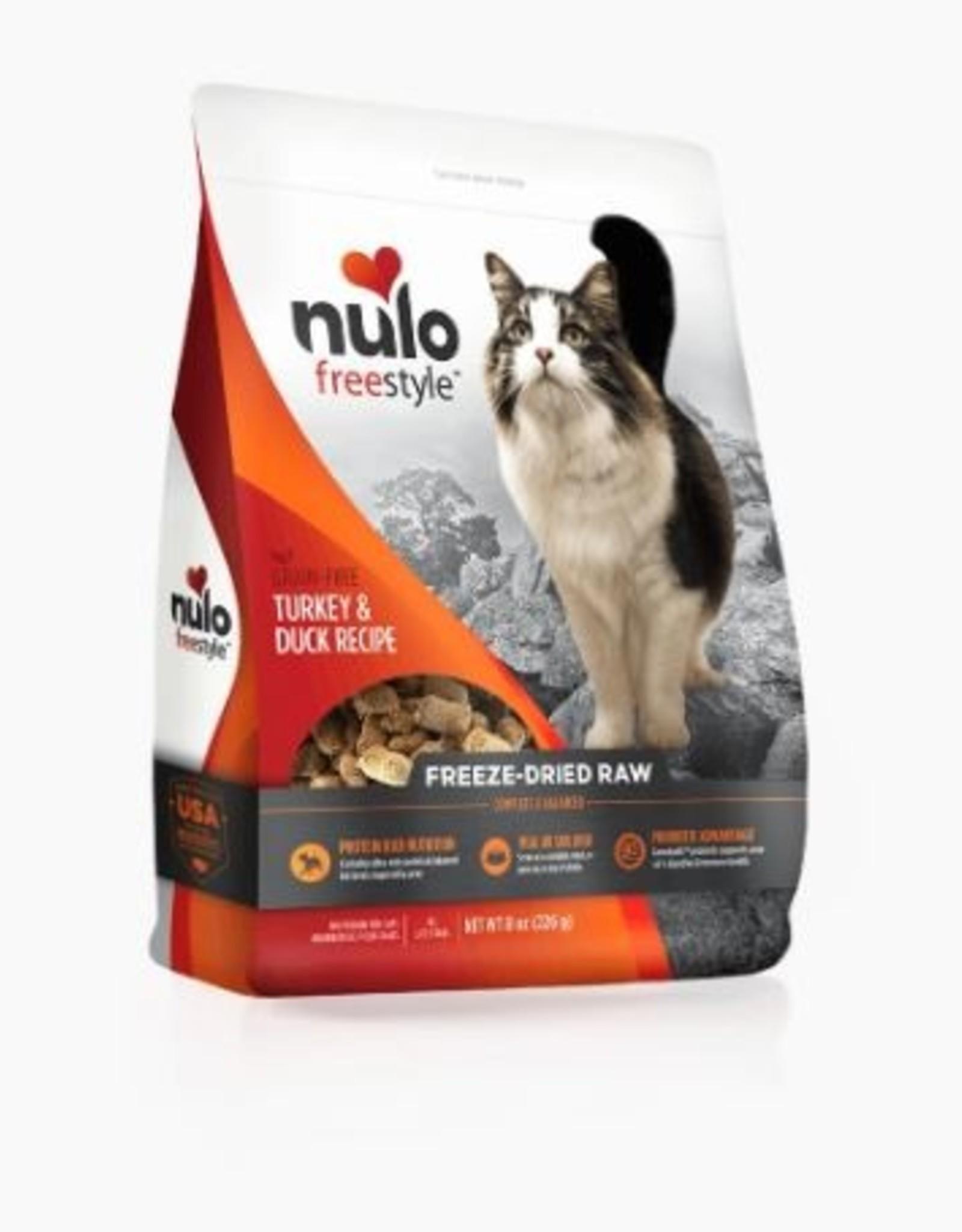 Nulo Freeze Dried Raw Grain Free Turkey & Duck CAT Food 8 oz