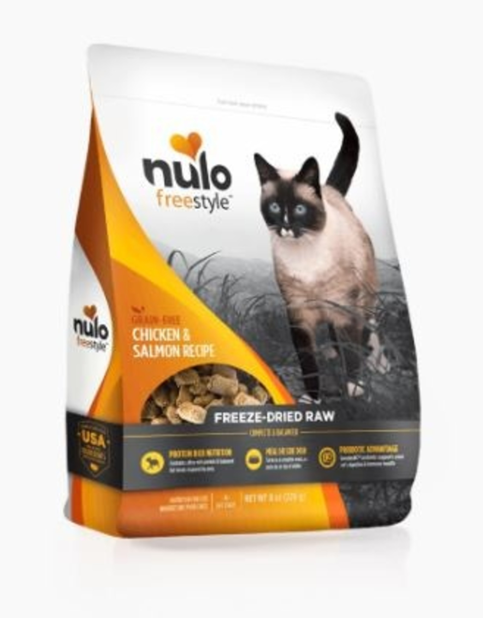 Nulo Freeze Dried Raw Grain Free Chicken & Salmon CAT Food 8 oz
