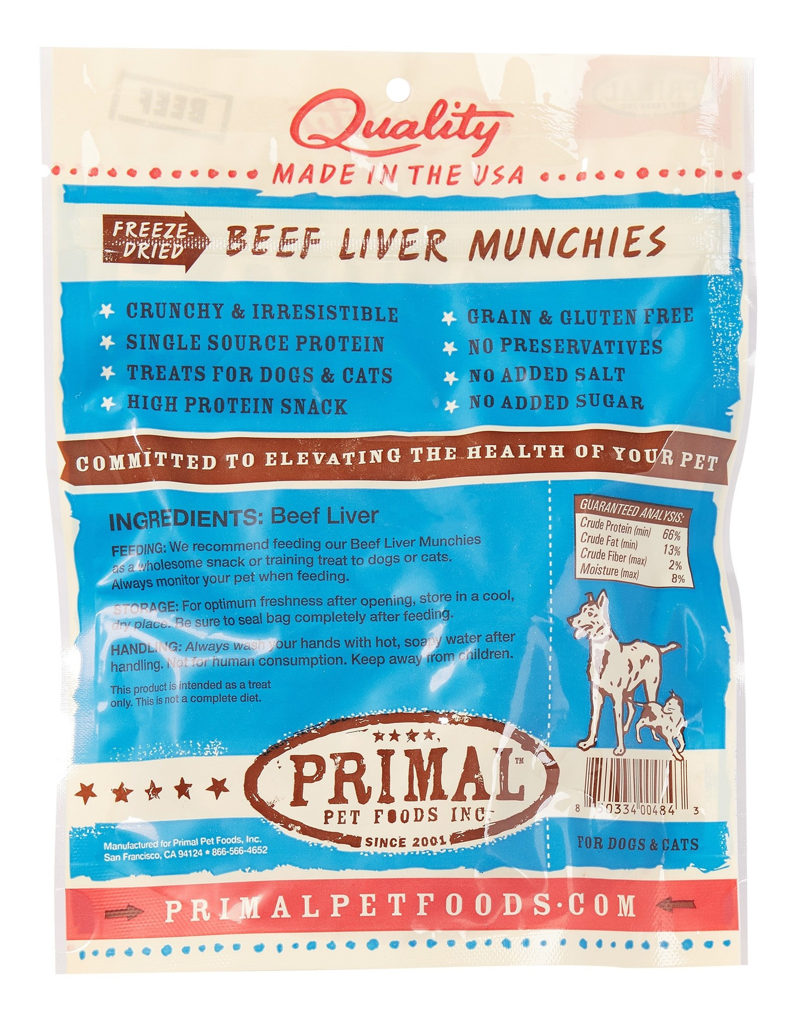 Primal Pet Foods Beef Liver Munchies