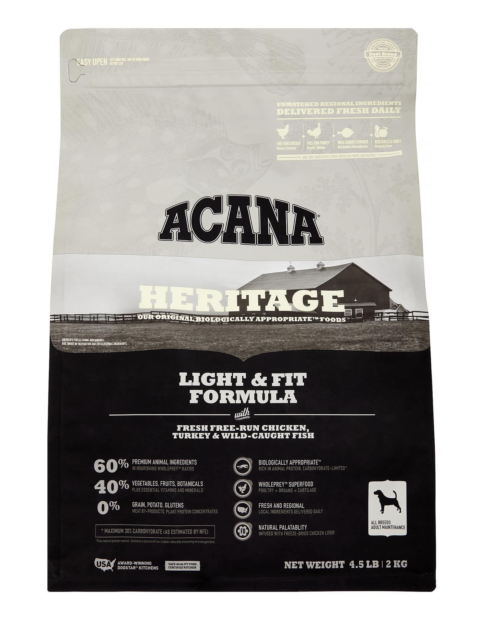 Acana Heritage Light & Fit 4.5lbs