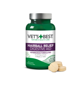 Vet's Best Cat Hairball Relief Supplements, 60 tablets