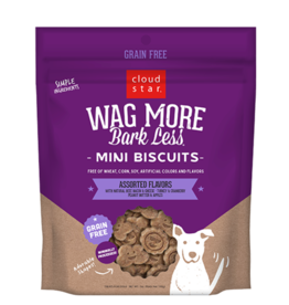 Cloud Star Wag More Bark Less Mini Biscuits Assorted 7oz