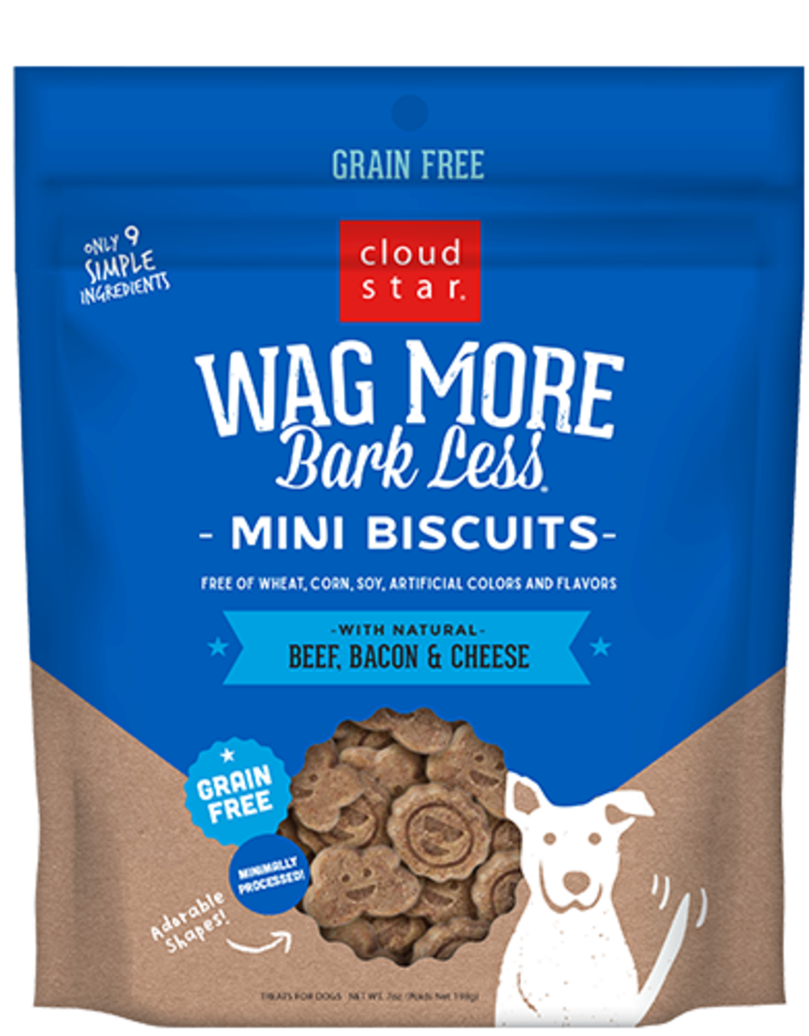 Cloud Star Wag More Bark Less Mini Biscuits Beef, Bacon, Cheese 7oz