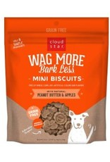 Cloud Star Wag More Bark Less Mini Biscuits Peanut Butter & Apples 7oz
