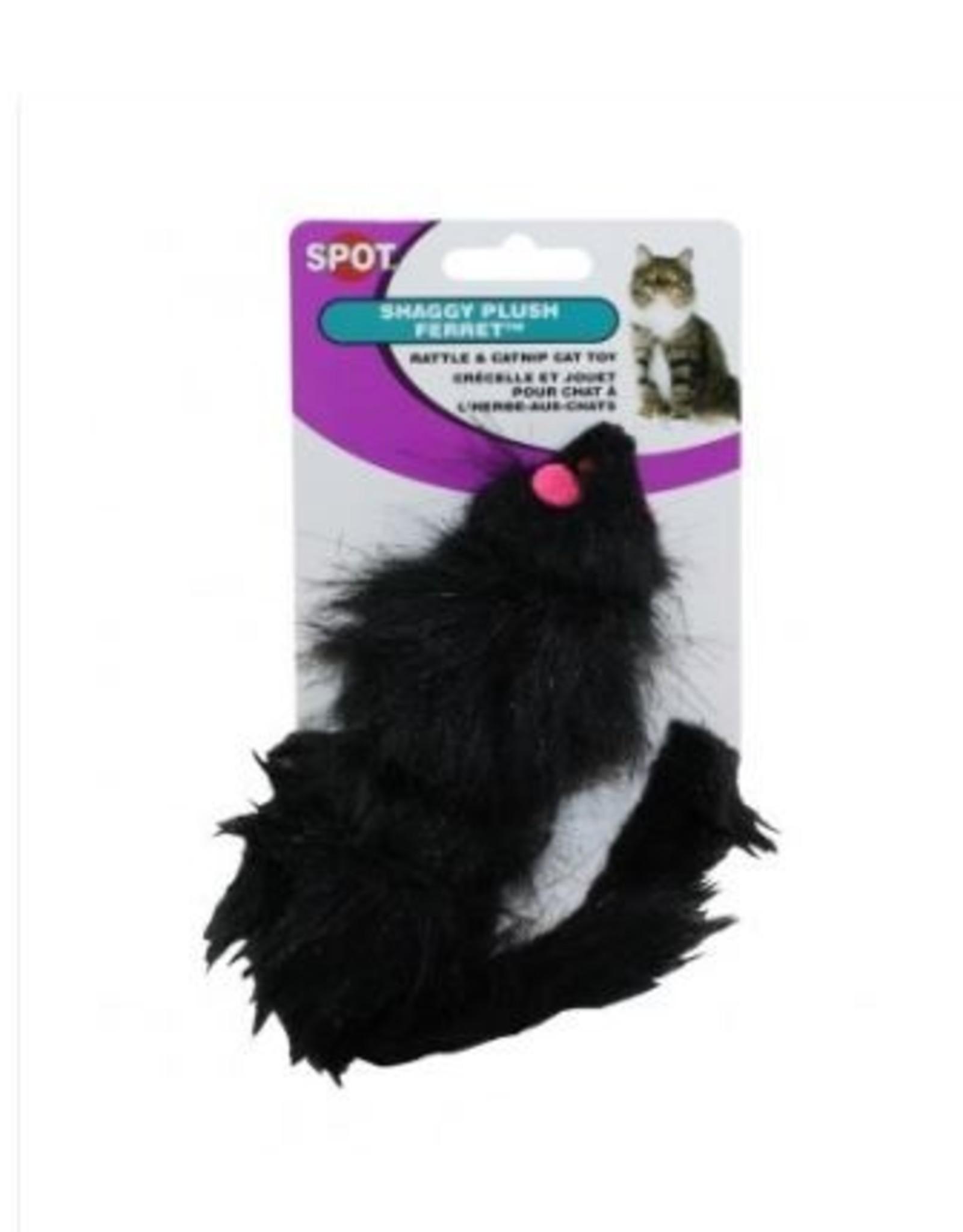 Ethical Shaggy Plush Ferret Rattle & Catnip