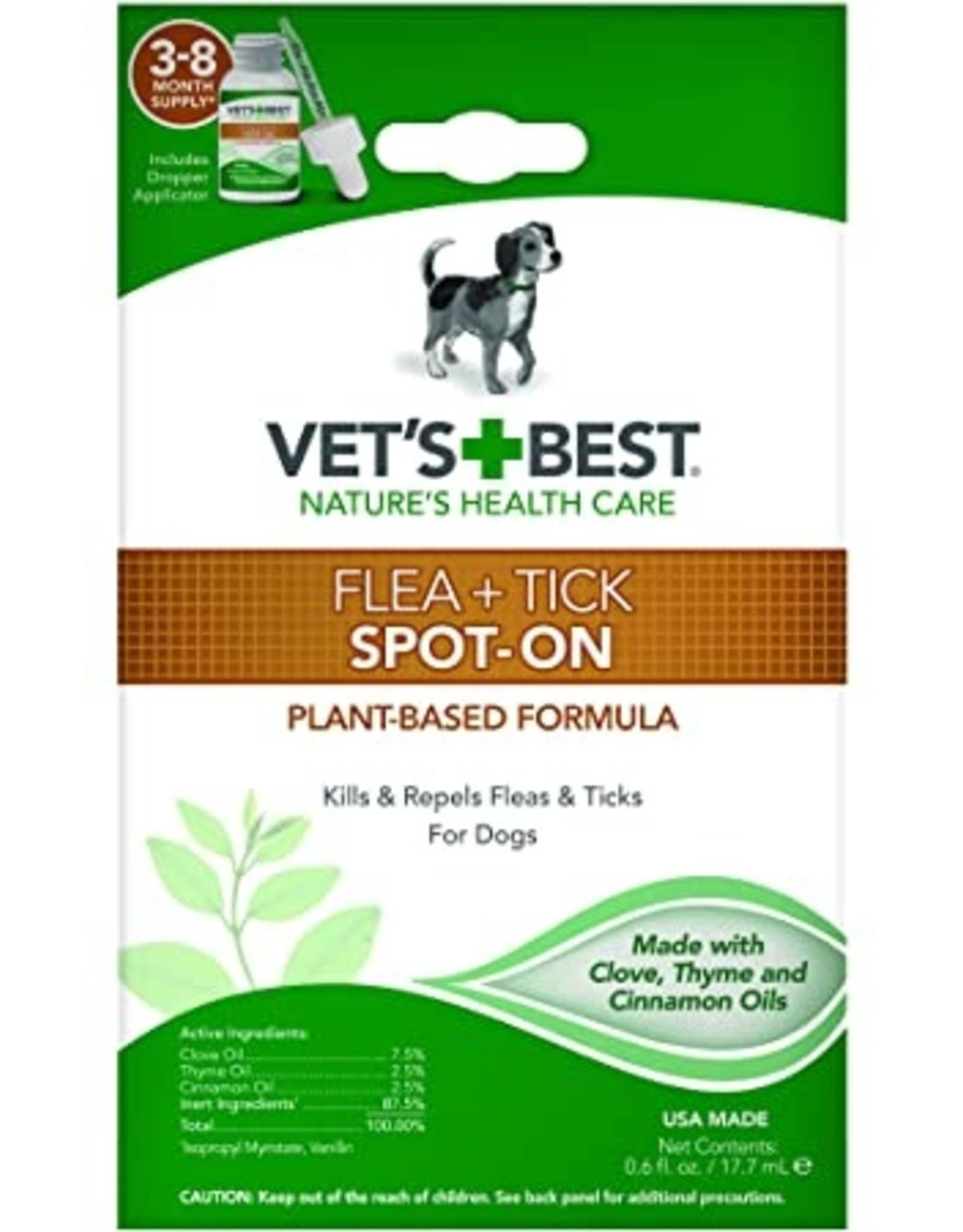 Vet's Best Flea & Tick Spot On 0.6oz (All Size Dogs)