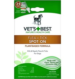 Vet's Best Flea & Tick Spot On .6oz (All Size Dogs)
