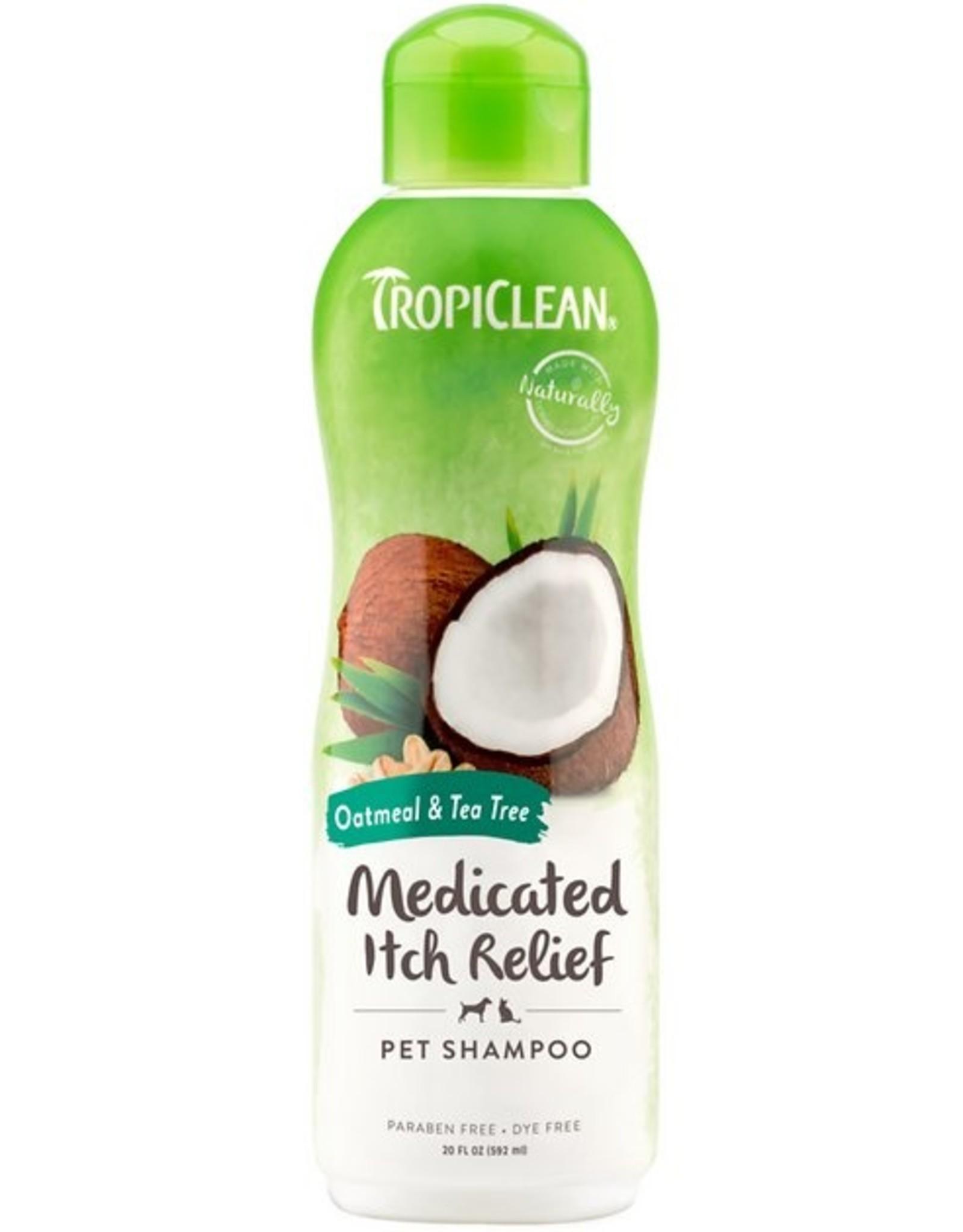 TropiClean Oatmeal & Tea Tree Medicated Dog Shampoo, 20 oz.